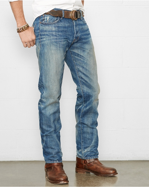 Straight-Fit Hunter Jeans by Ralph Lauren in Dope