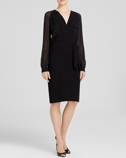 Pordoi Sheer Sleeve Dress by Max Mara in Suits
