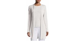 Fine Organic Linen Long Cardigan by Eileen Fisher in Keeping Up With The Kardashians