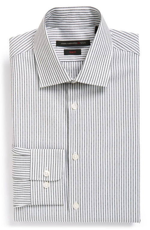 Slim Fit Stripe Dress Shirt by John Varvatos Star USA in Wanted