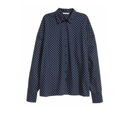 Wide-Cut Cotton Shirt by H&M in Supergirl