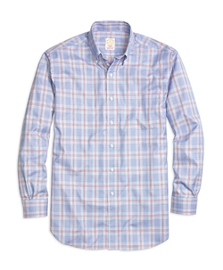 Madison Glen Plaid Sport Shirt by Golden Fleece in Rosewood