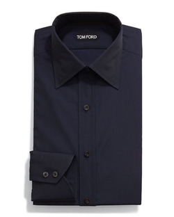 Classic Solid Dress Shirt by Tom Ford in Rosewood