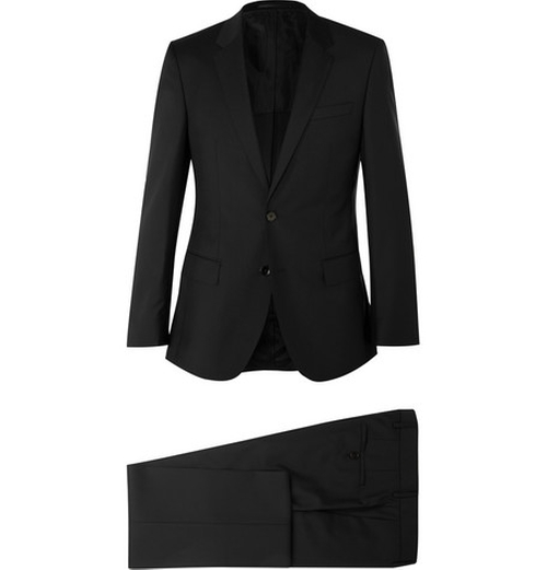 Slim-Fit Virgin Wool Suit by Hugo Boss in Arrow - Season 4 Episode 4