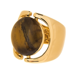 Tiger's Eye Signet Ring by Rachel Zoe in Victor Frankenstein