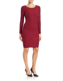 Ribbed Knit Sheath Dress by Marc New York Andrew Marc in Quantico