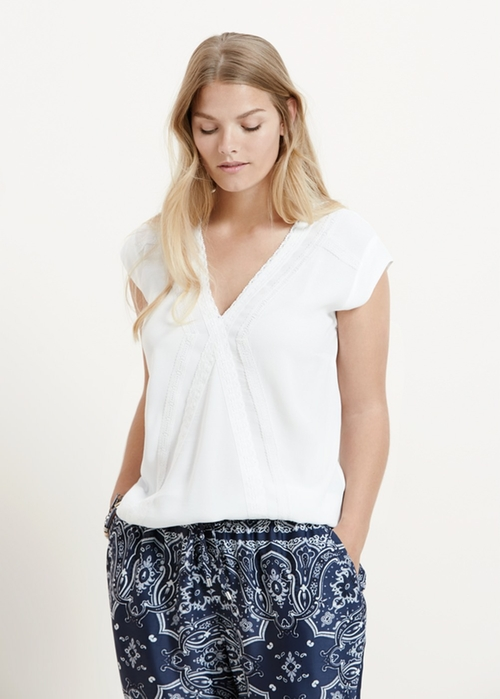Embroidered Trims Blouse by Mango in Sixteen Candles