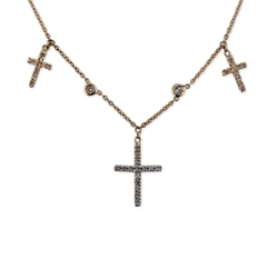 Triple Cross Choker by Jacquie Aiche in Keeping Up With The Kardashians