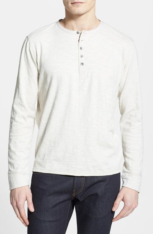 Long Sleeve Slub Cotton Henley by W.R.K Maroubra Beach in The November Man