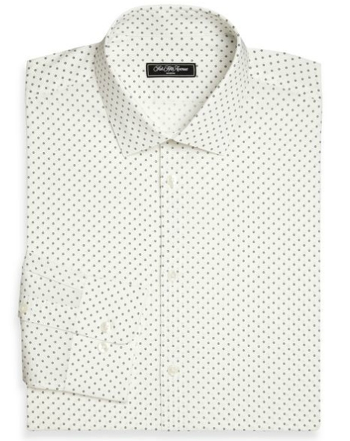 Modern-Fit Dot Dress Shirt by Saks Fifth Avenue Collection in Rosewood - Season 1 Episode 6