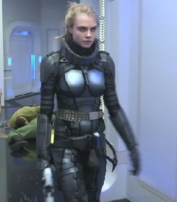 Custom Made Space Suit (Laureline) by Olivier Bériot (Costume Designer) in Valerian and the City of a Thousand Planets