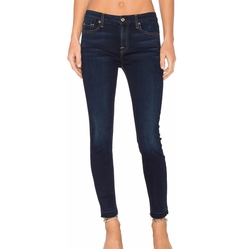 The Ankle Released Hem Skinny Jeans by 7 For All Mankind in Rosewood