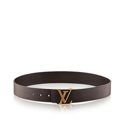 LV Initiales Utah Leather Belt by Louis Vuitton in Ballers