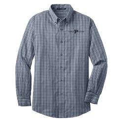 Men's Tattersall Easy Care Shirt by Purduegear in Savages
