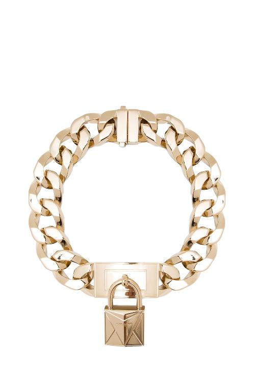 Chain Necklace With Metal Lock Front In Gold by Givenchy in Beyond the Lights