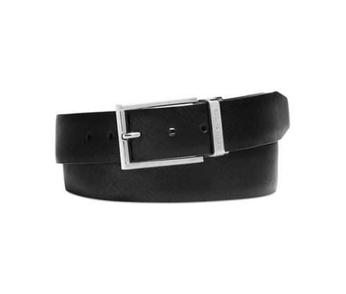 Saffiano Leather Reversible Colorblock Belt by Michael Kors in Mr. & Mrs. Smith