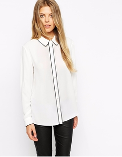 Contrast Piping Blouse by Asos in Pretty Little Liars