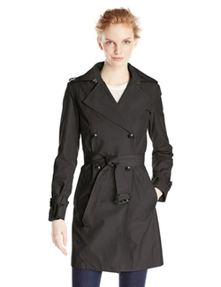 Double-Breasted Trench Coat by Cole Haan in Arrow