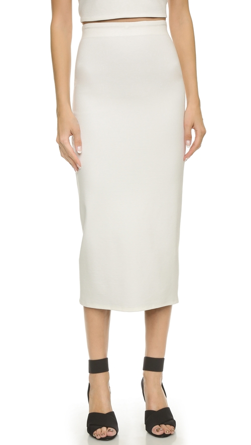 Midi Reversible Ponte Pencil Skirt by AD in Suits - Season 5 Episode 1