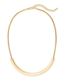 Metal Arc Necklace by The Limited in Quantico