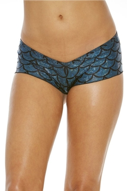 Metallic Mermaid Micro Shorts by Bodyshotz in Inherent Vice