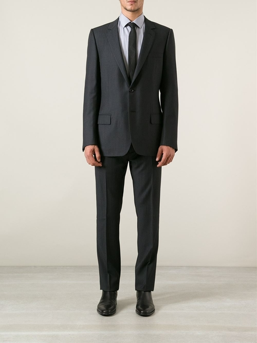 Pin Striped Suit by Dior Homme in Wanted