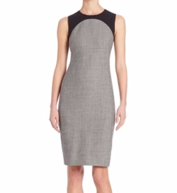 Jersey Trim Wool Sheath Dress by Akris Punto in How To Get Away With Murder