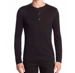 Pima Cotton Henley by Ralph Lauren in Shadowhunters