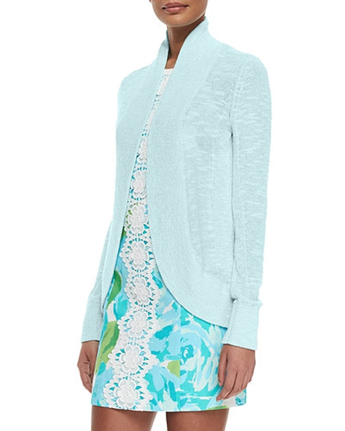 Amalie Long-Sleeve Open Cardigan by Lilly Pulitzer in My All American