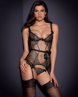Embroidered Callie Basque by Agent Provocateur in Fifty Shades Darker