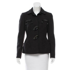 Embellished Wool Jacket by Prada in Suits