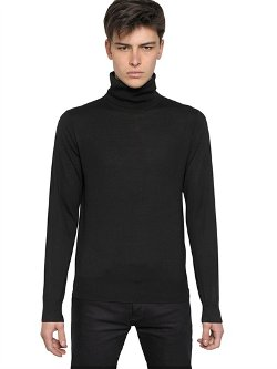 Logo Embroidered Wool Knit Turtleneck Sweater by Givenchy in John Wick