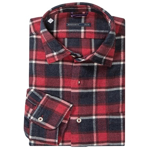 Brushed Cotton Multicolor Plaid Shirt - Long Sleeve by Mason's in The Expendables 3