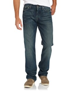 Standard-Cut Straight-Leg Jeans by 7 For All Mankind in That Awkward Moment