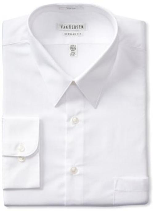 Men's Regular Fit Poplin Dress Shirt by Van Heusen in Transcendence