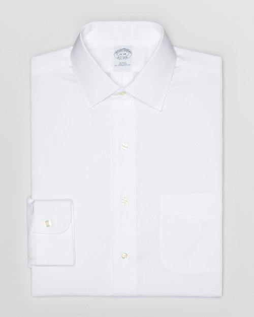 Solid Pinpoint Dress Shirt by Brooks Brothers in Unfinished Business