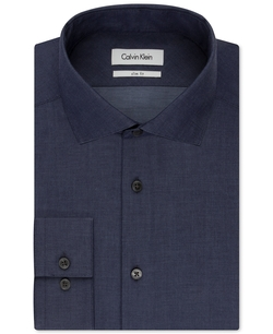Steel Solid Dress Shirt by Calvin Klein in Love Actually