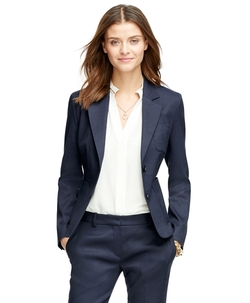 Stellita Fit Two-Button Linen Blend Jacket by Brooks Brothers in Pretty Little Liars