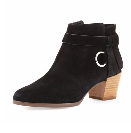 Selena Suede Ankle-Strap Booties by Rebecca Minkoff in Pretty Little Liars