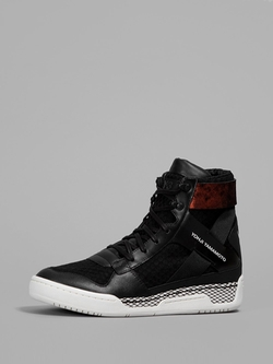Black High Top Sneakers by Y-3 in Ballers