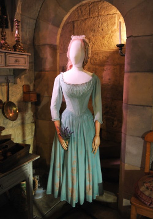 Custom Made Light Blue Chemise La Reine Dress (Cinderella) by Sandy Powell (Costume Designer) in Cinderella