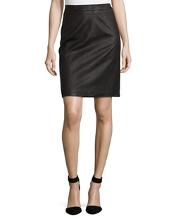 Edith Python-Embossed Pencil Skirt by Milly in Scandal