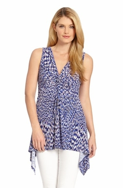 'Reflection' Print Twist Knot Top by Karen Kane in 99 Homes