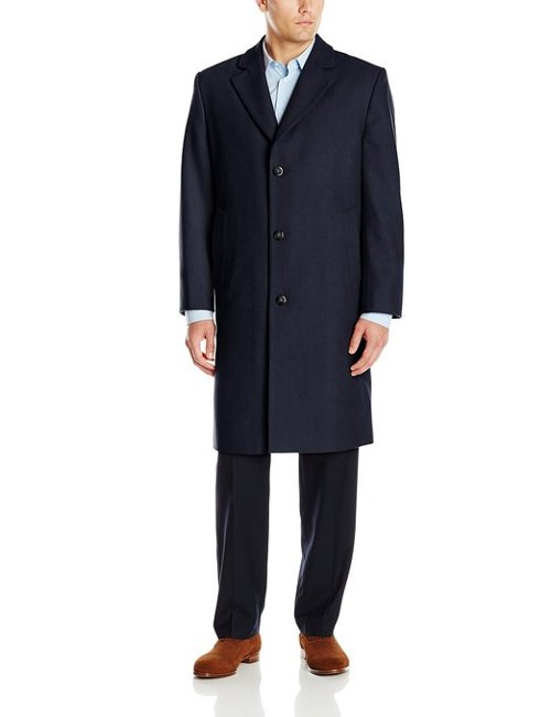 Signature Wool-Blend Top Coat by London Fog in Birdman