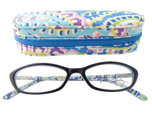 3015 Capri Blue Reading Glasses by Vera Bradley in Beyond the Lights