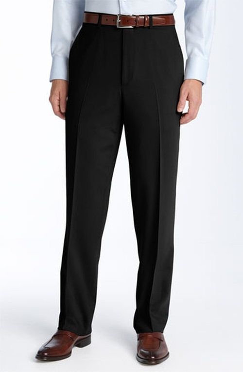 Flat Front Wool Trousers by Pazoni in Atonement