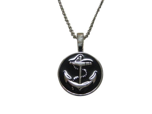 Anchor Pendant Necklace by Kiola Designs in Clueless