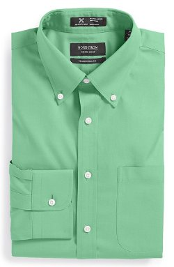Wrinkle Free Traditional Fit Pinpoint Dress Shirt by Nordstrom in Blackhat