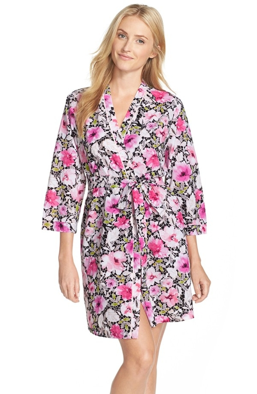 Floral Print Robe by Oscar de la Renta Sleepwear in Jem and the Holograms