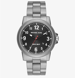 Paxton Silver-Tone Watch by Michael Kors in New Girl